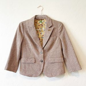 Anthro Ett Twa Professoressa Tweed Blazer Jacket
